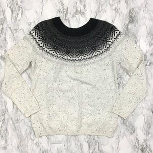 Talbots Fair Isle Sweater w/ Beading
